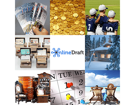 OnlineDraft, a web-based tool for hosting your drafts online for Season Tickets, Youth Sports Leagues, Vacation Homes Condos, or whatever you share.