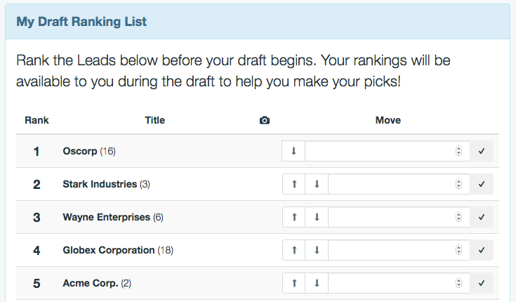 Ranking Screen