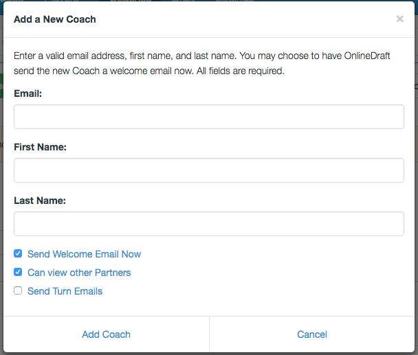 Add a coach